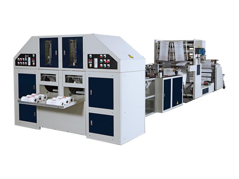 COSMO - SCR-40-G2 / Sıcak Dilimleme ve Körüklü  Masuralı Rulo Sebze Poşeti Kesim Makinesi