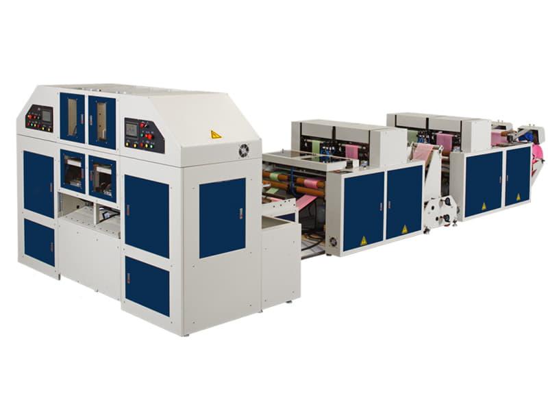 COSMO - STRCR-40-L2 / 2 Hatlı Masuralı ve Masurasız Rulo Poşet Kesim Makinesi