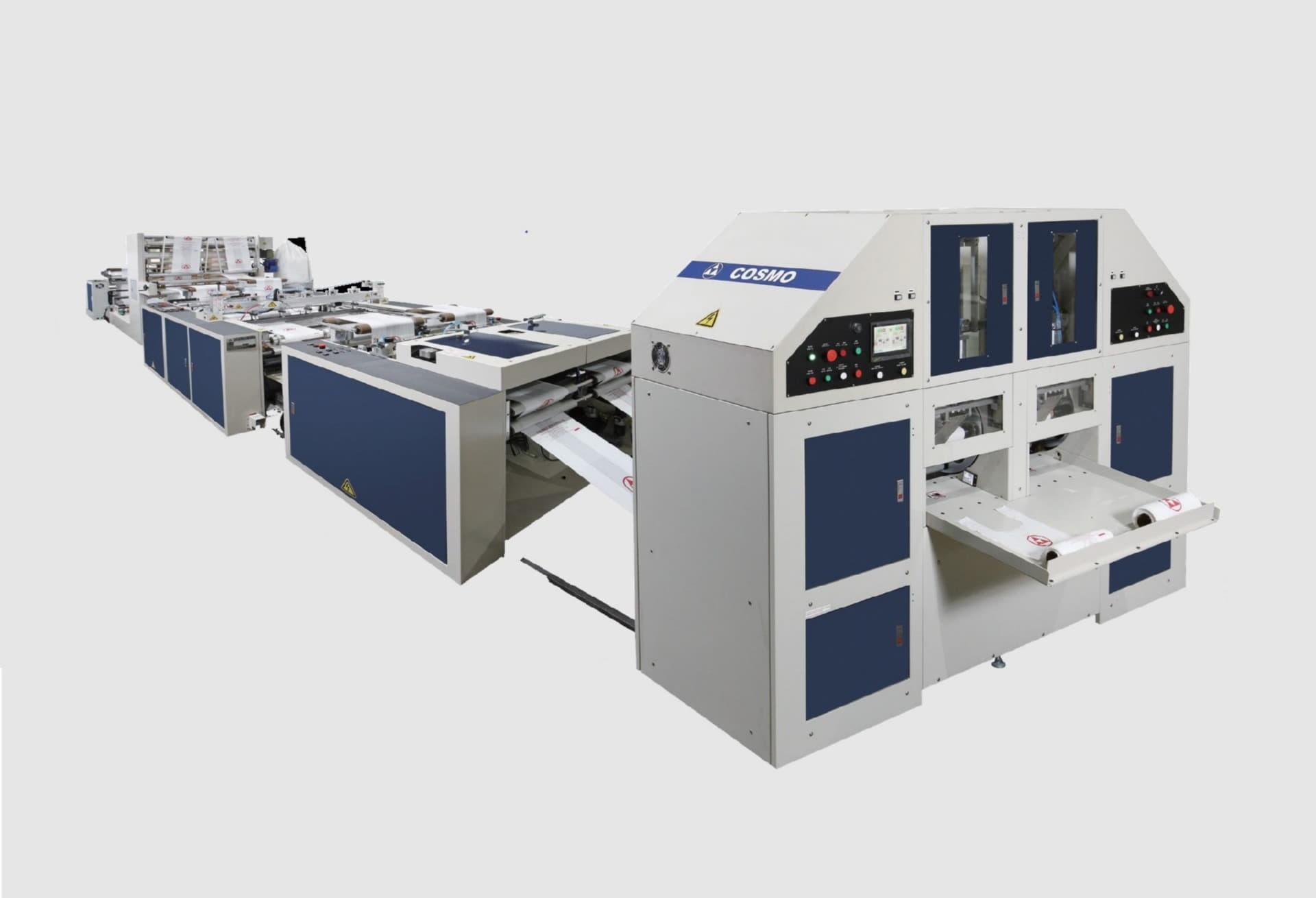 COSMO - STBCR-40-G2+OS / Sıcak Dilimleme ve Körüklü Rulo Atlet Poşet Kesim Makinesi