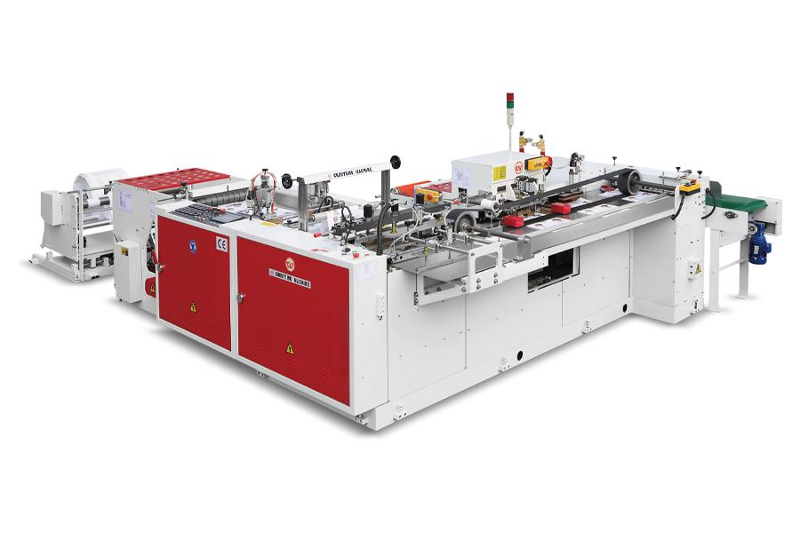 CW-500ZD - Tam Otomatik Alt Kaynaklı,Yumuşak Saplı Poşet Kesim Makinası