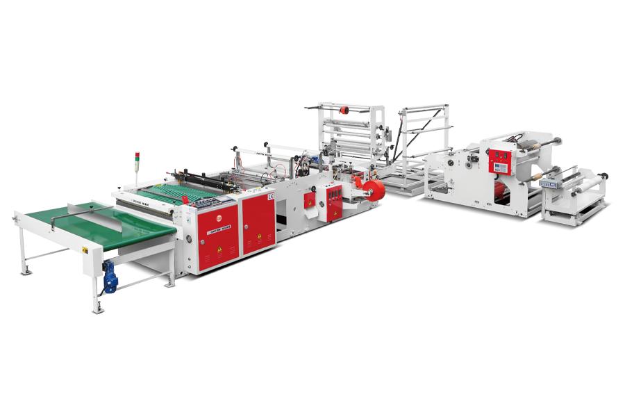 CHOVYTING - CW-800SBD+DHL - Tam Otomatik Yan ve Alt Kaynaklı, Çift Çeneli + DHL Poşet Kesim Makinası