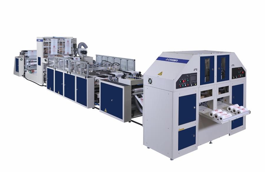 COSMO - STBCR-40-G2+OS+2W / Süper Hızlı Sıcak Dilimleme ve Körüklü Rulo Atlet Poşet Kesim Makinası
